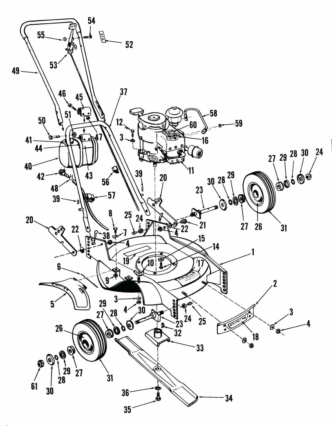 Lawn Mower Drawing At Free For Personal Use Honda Engine Parts Diagram 1116x1432 Toro Recycler Murray Self