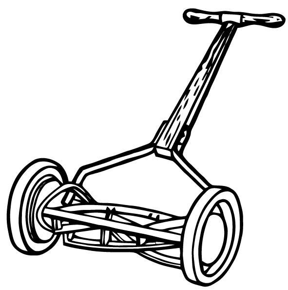 591x594 Ephemeraphilia Free Vector Art Lawn Mower