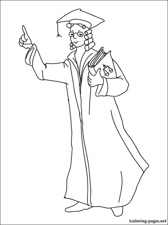 560x750 Lawyer Coloring Page Coloring Pages