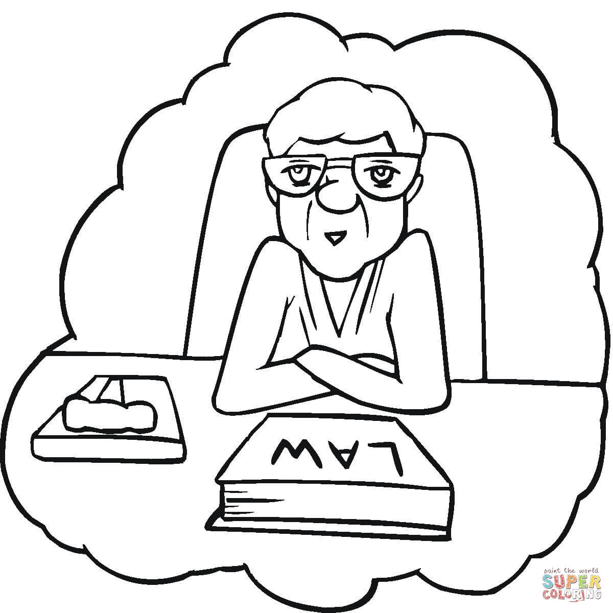 1200x1200 Lawyer Coloring Page Free Printable Coloring Pages