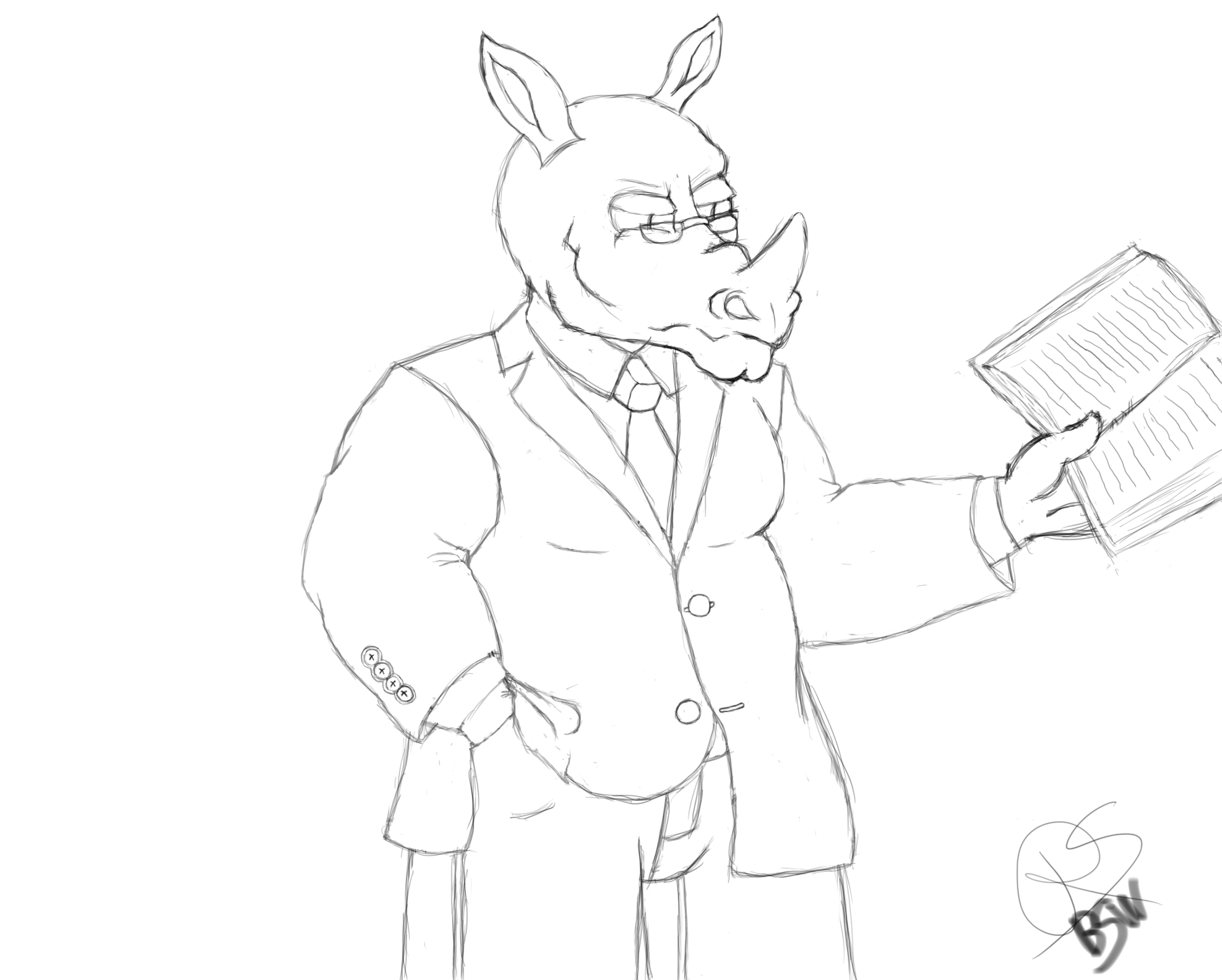 1975x1584 Rhino Lawyer Weasyl