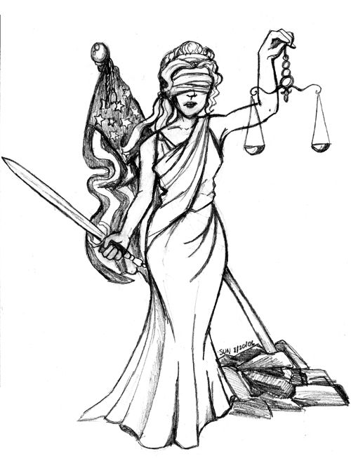 500x664 Lady Justice Drawings