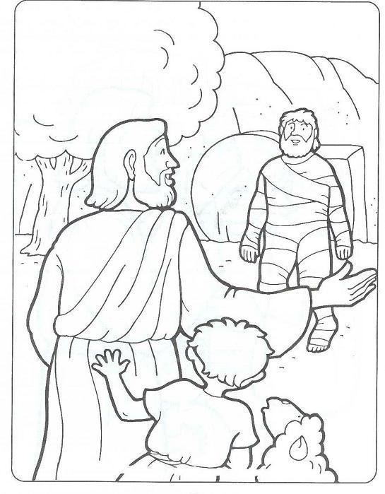 545x699 John 111 44 Jesus Has Power Over Death Jesus Raises Lazarus