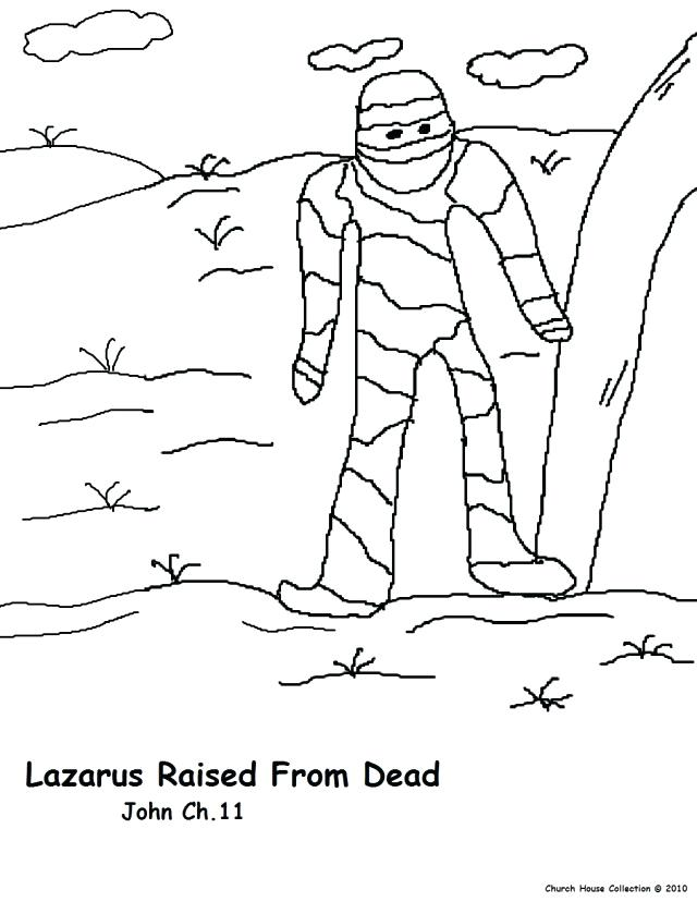 640x828 Lazarus Coloring Page Resurrection Of On Resurrection Coloring