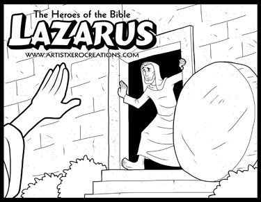 375x291 The Heroes Of The Bible Coloring Pages Lazarus Bible, Hero