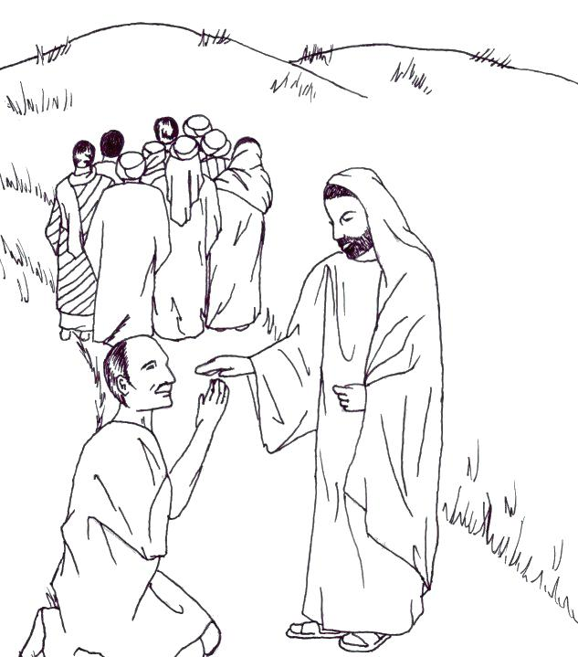 633x719 Jesus Heals Coloring Page Heals A Paralytic Coloring Page