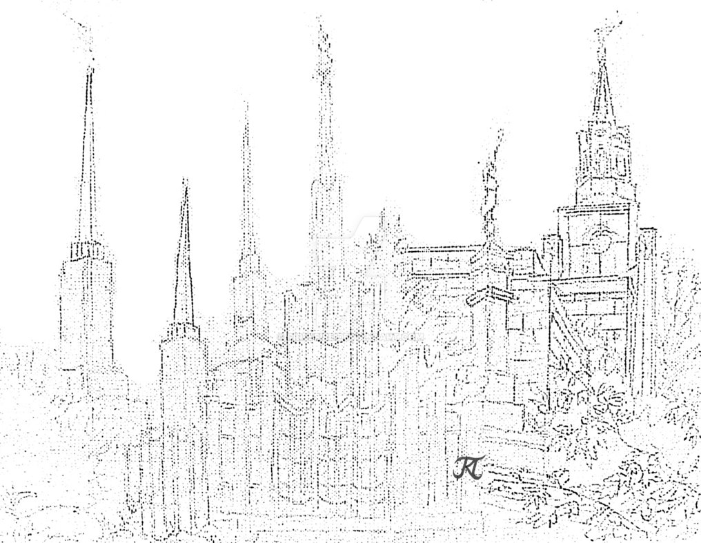 1016x787 Lds Temple Collage Sketch By Ridesfire