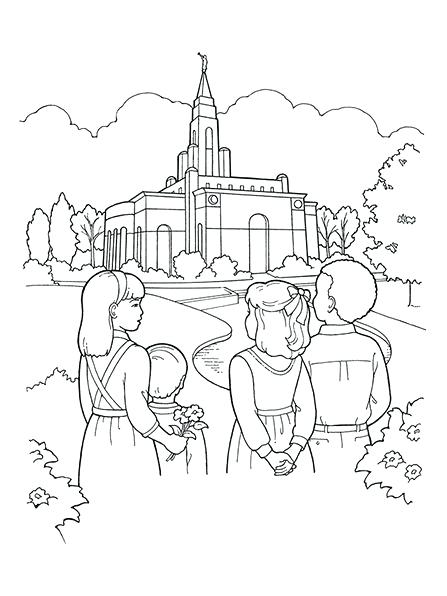 447x596 Lds Temple Coloring Pages Temple Embroidery Design Digital Instant