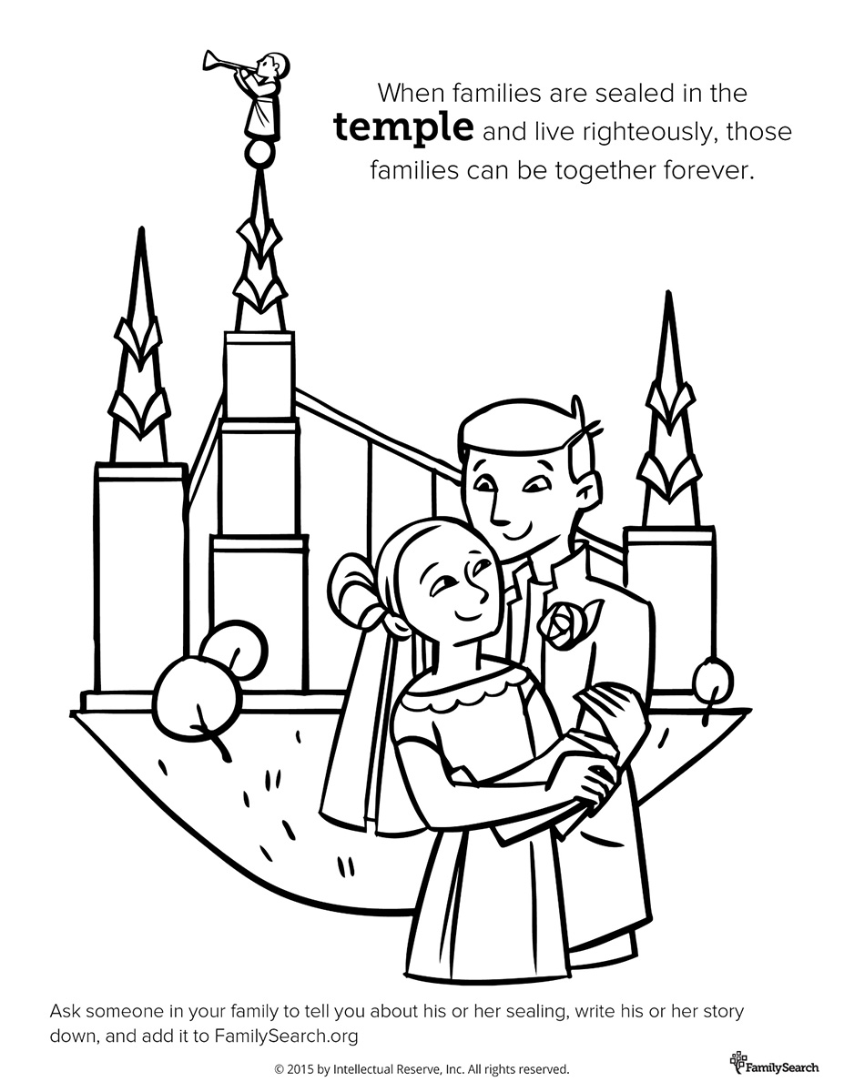 927x1200 Coloring Page For Primary Class. Family