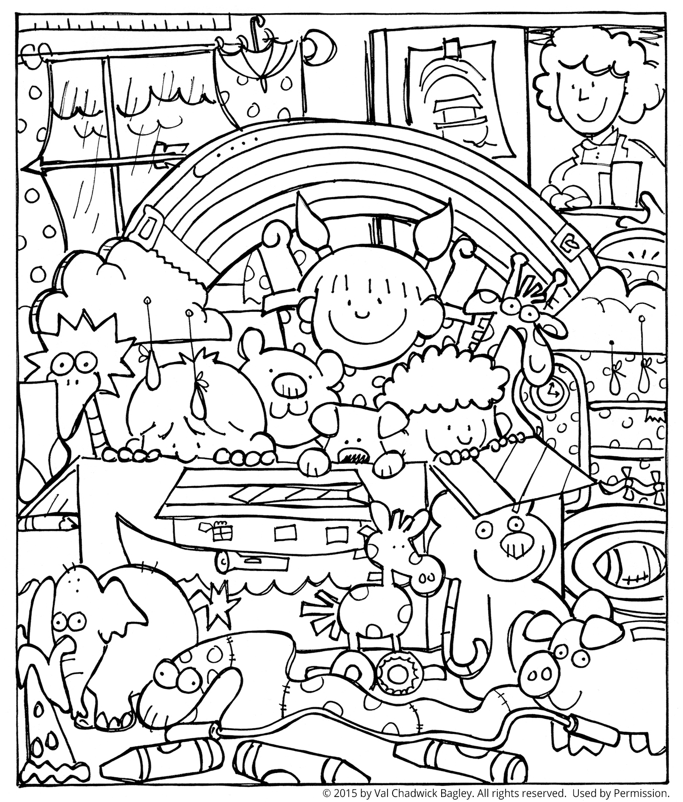 1364x1600 Noah And The Ark Coloring Page