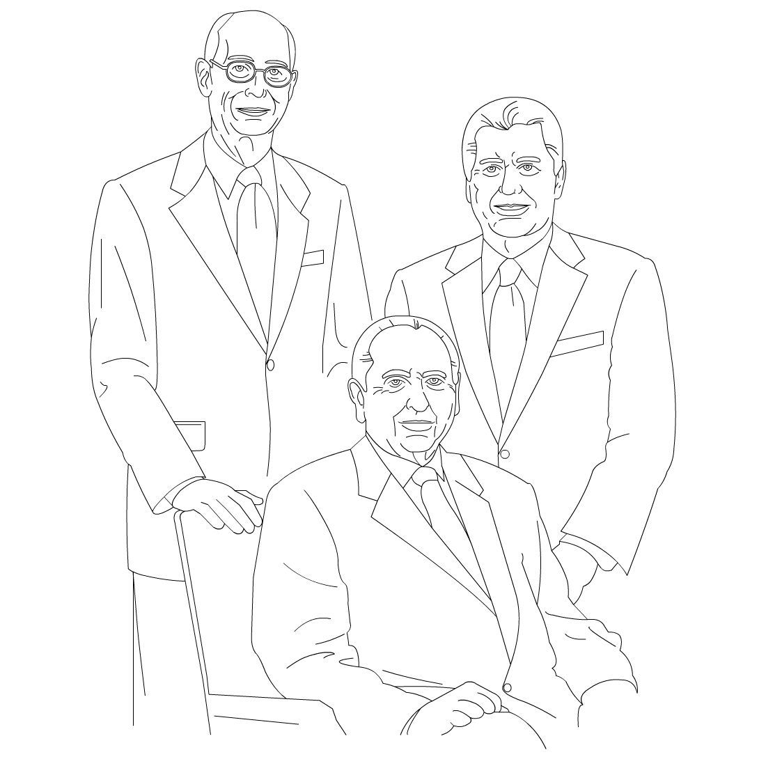1100x1100 Free Lds Clipart To Color For Primary Children First Presidency