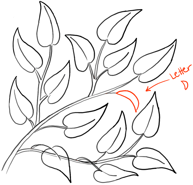 750x720 How To Draw Tree Branches Full Of Leaves Drawing Tutorial
