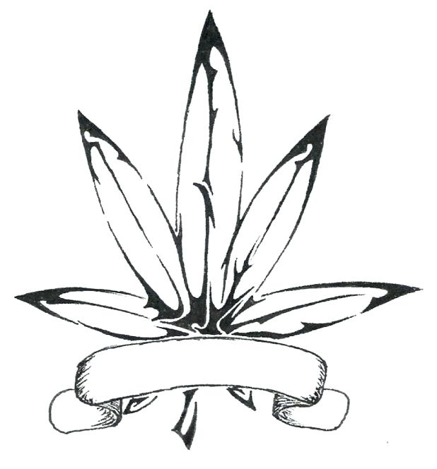 618x664 Marijuana Coloring Pages Pot Leaf Drawing Intended For Coloring
