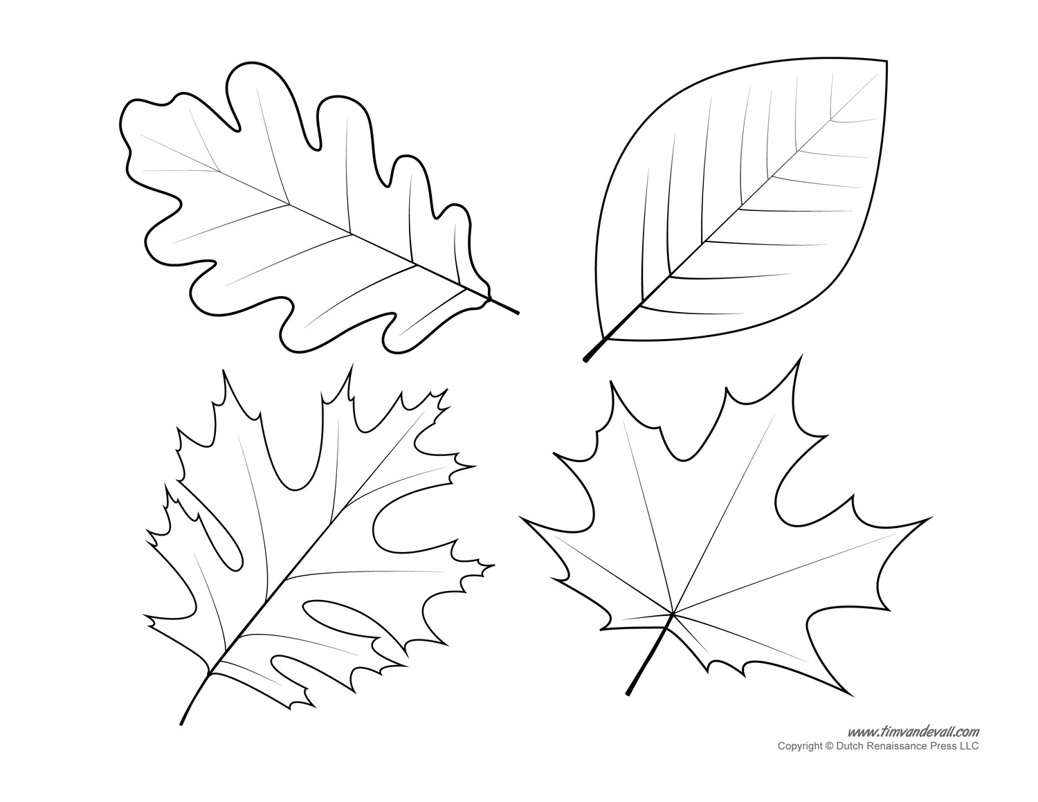 1500x1159 Free Printable Leaf Pattern