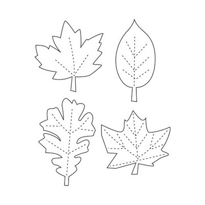400x400 Printable Leaf Stencils Topic Thanksgiving Leaf Garland