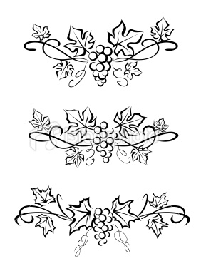 282x380 Grape Branchs And Leaves Tattoo ~ Thinking About A Tiny Version