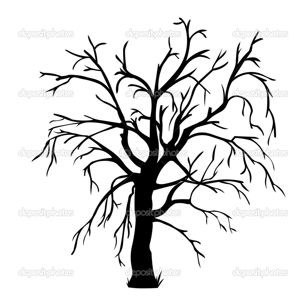 1024x1024 Leafless Tree Coloring Page Free Download