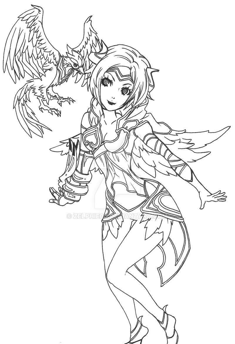800x1168 League Of Legends Quinn Phoenix Skin By Zelphie00