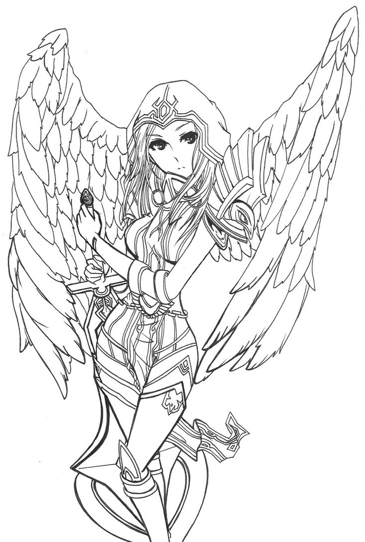 734x1089 League Of Legends Judgment Kayle Skin By Zelphie00