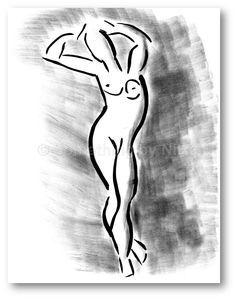 236x299 Sit And Lean, Nude Women, Printable Art, Digital Print, Instant