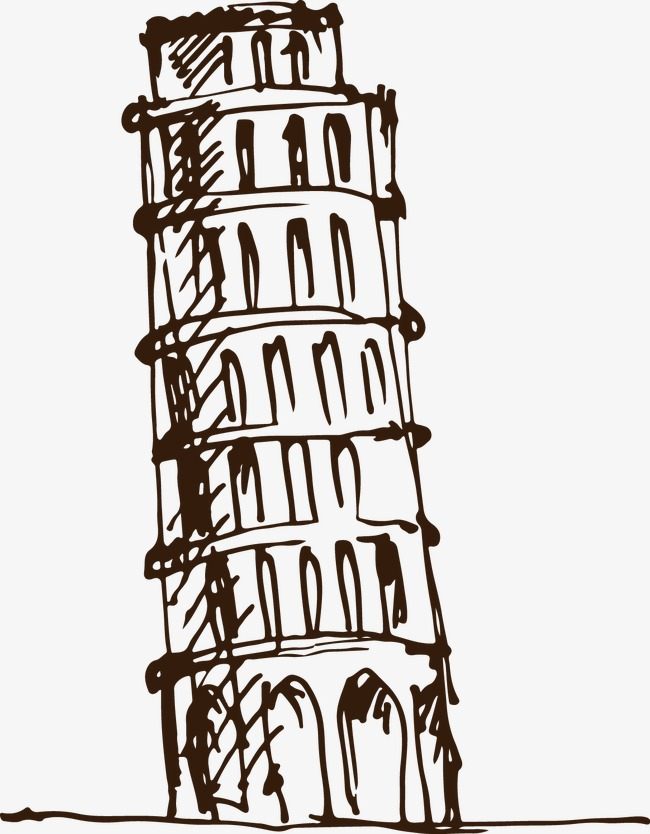 650x834 Vector Leaning Tower, Leaning Tower, Vector, Building Png