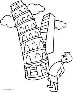 236x298 Leaning Tower Of Pisa Coloring Page Illustrations