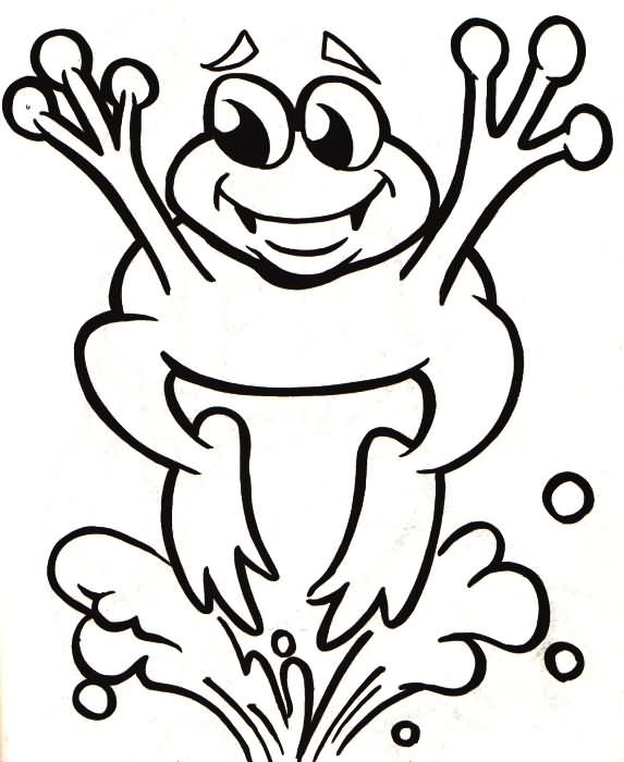 573x700 Jumping Frog Coloring Pages Coloring Butter Frogs