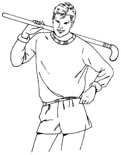400x512 How To Draw Hockey Players In 5 Steps Howstuffworks