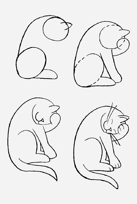 480x715 Learn How To Easily Draw A Cat Diy And Tutorials