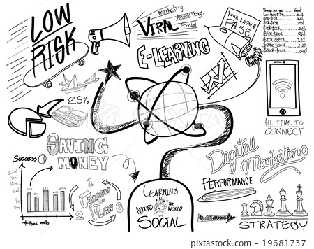 450x356 E Learning Education Sketch Drawing Doodle Concept