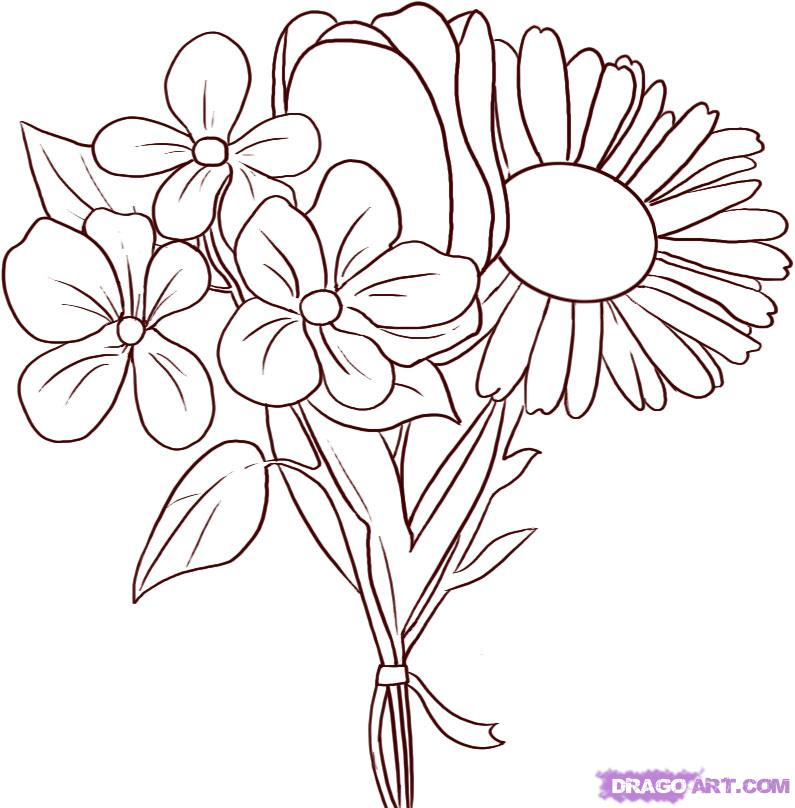 795x808 How To Draw Flowers Step By Step Easy She Began Posting Photos