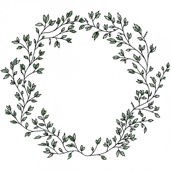 550x550 Hand Drawn Wreath Craftgawker