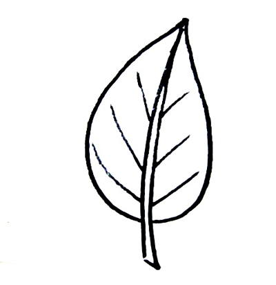 400x412 Leaf Templates For Kid's Crafts