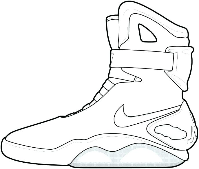 687x585 Lebron Coloring Pages 9 Pics Of Shoes Coloring Pages Shoes Lebron