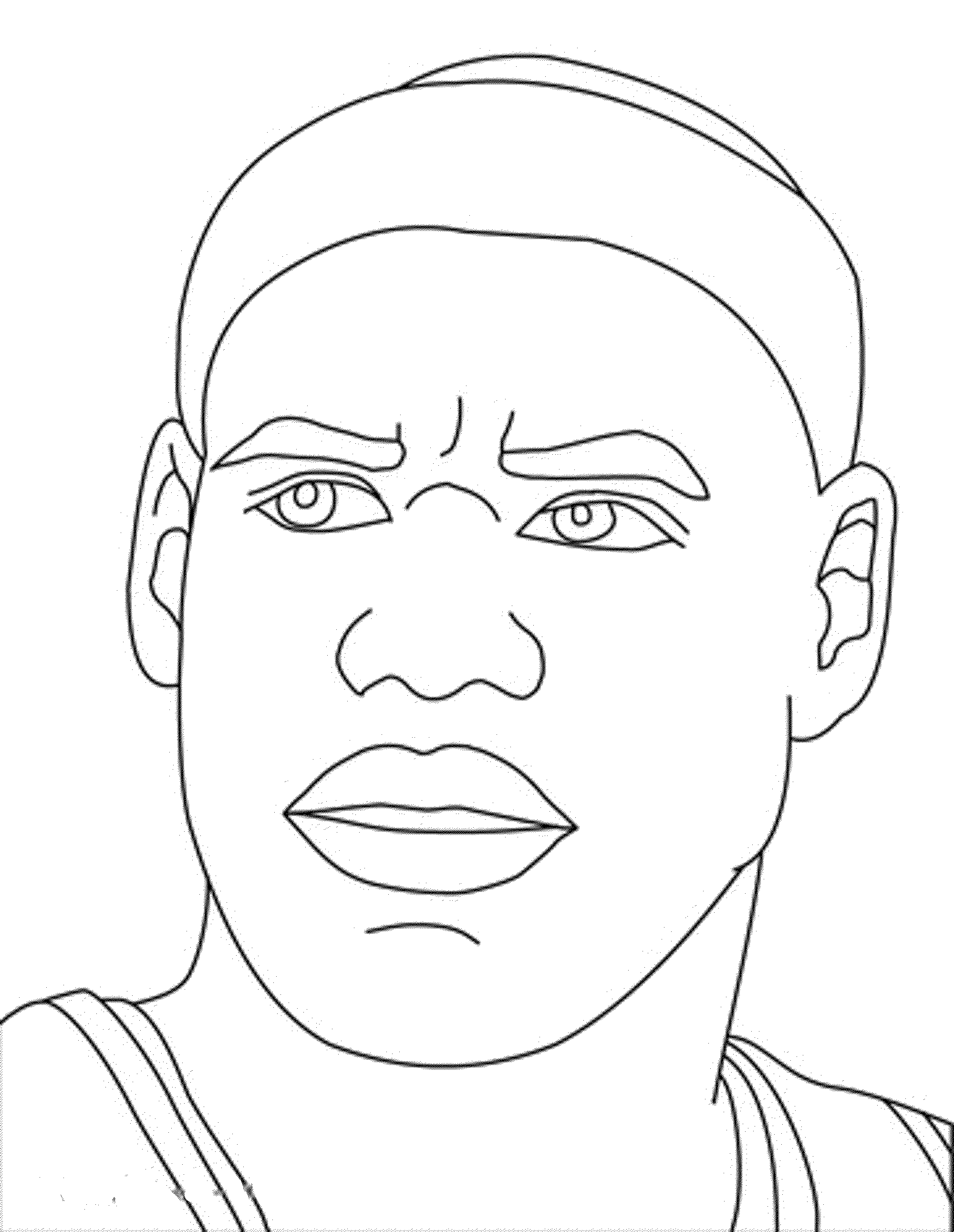 2000x2582 Lebron James Coloring Pages