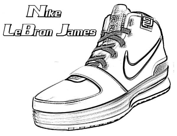 600x464 Nike Lebron James Shoes Coloring Page Coloring Sky
