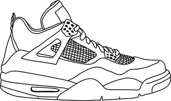 550x325 Air Jordan 4 Drawing