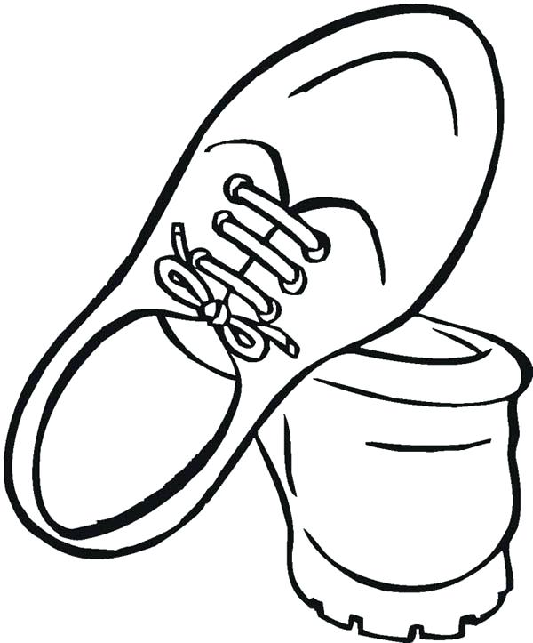 600x723 Shoes Coloring Page Shoe With Polka Dots Coloring Page Lebron
