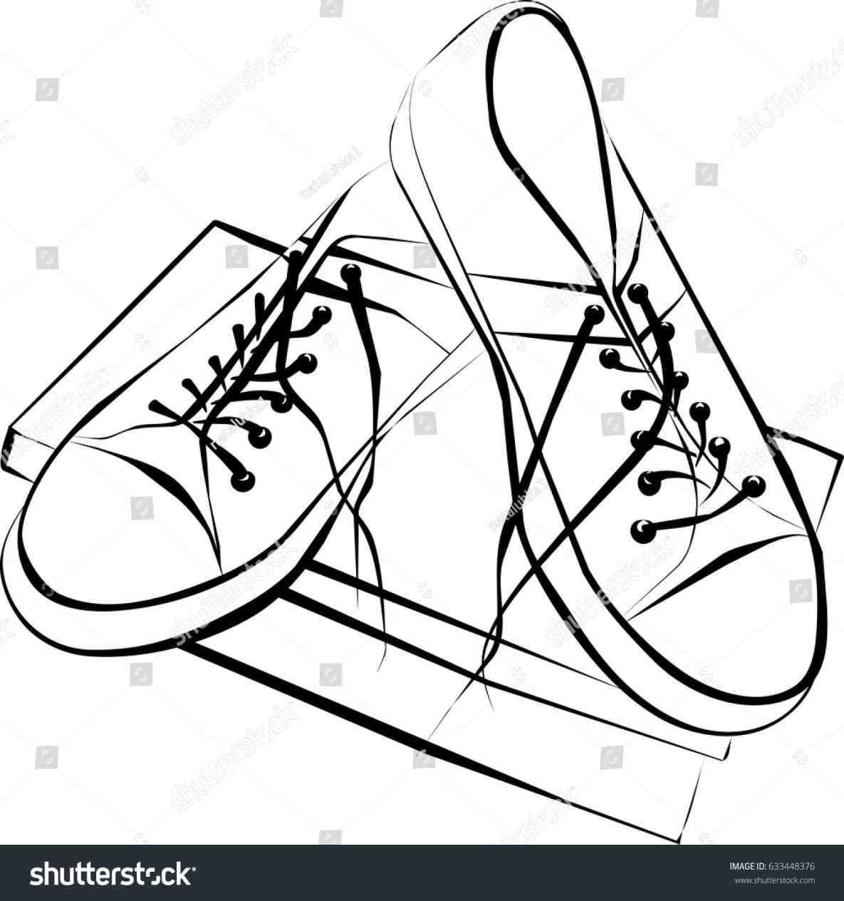1185x1264 Cartoon Shoes Drawing