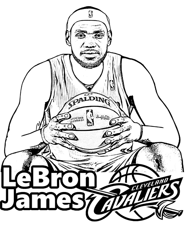 600x740 Lebron James Coloring Pages Lebron James Coloring Page Picture