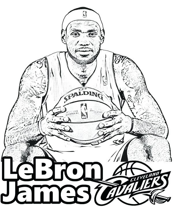 600x740 Lebron James Coloring Pages