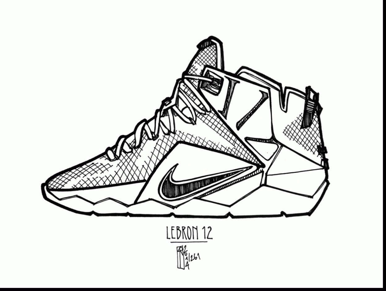 1248x939 Kevin Durant Shoes Coloring Pages Christmas Lebron Shoes Coloring