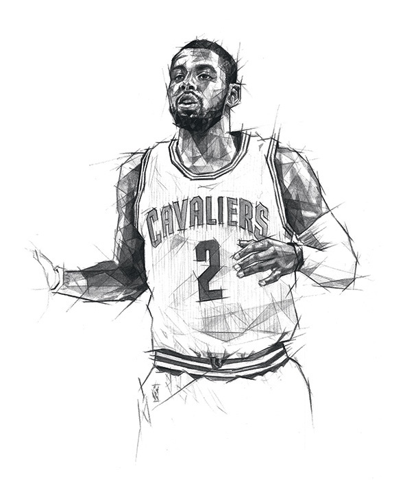 575x700 Kyrie Irving Black And White Drawings Model Aviation