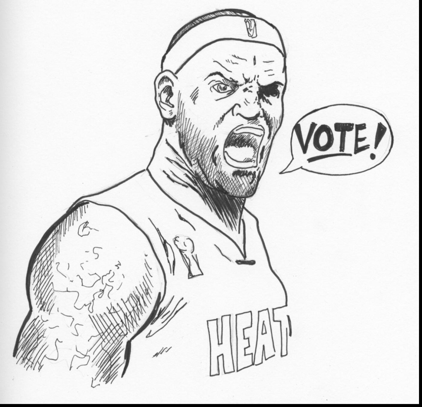 1408x1357 Amazing Lebron James Coloring Page Heat Images Amp Pictures Becuo