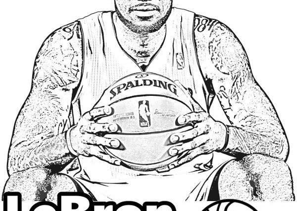 600x425 Lebron James Coloring Pages Lebron James Coloring Pages Lebron