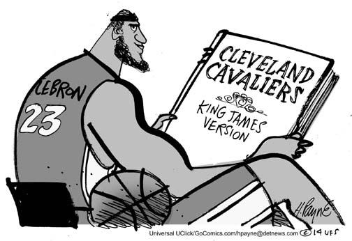 504x346 Henry Payne Cartoon Lebron Cleveland