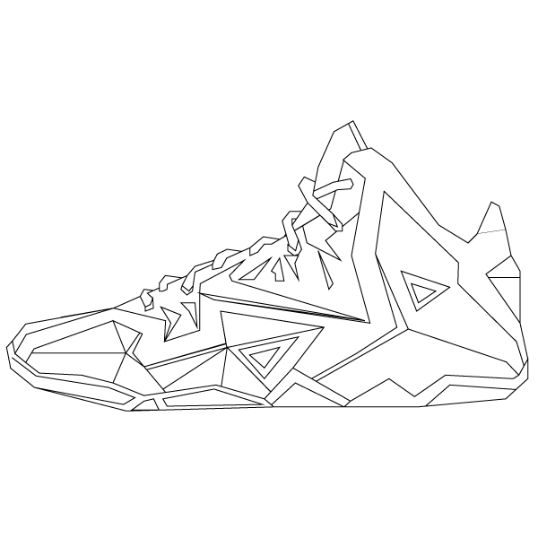 600x600 Illustration Of The Nike Air Yeezy Ii'S. Red Octobers. Check