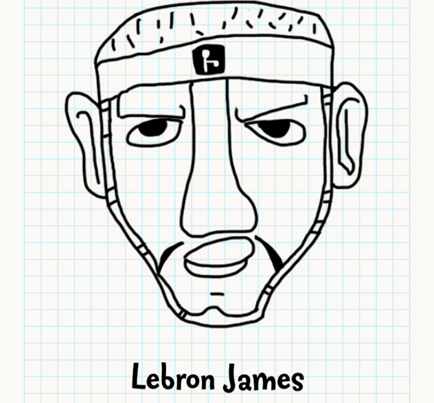 632x586 Images Lebron James Face Drawing
