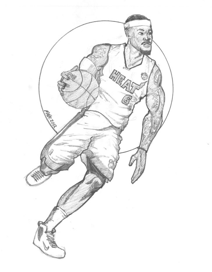 728x934 Lebron James Coloring Pages