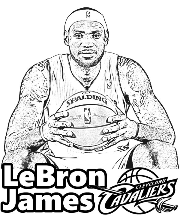 Lebron james drawing at free for for Lebron coloring pages